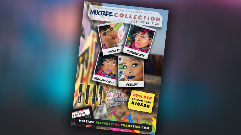 Kissable Lips Cosmetics Introduces the MIXTAPE COLLECTION