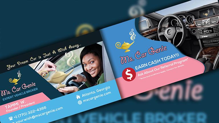 Ms. Car Genie Business Card