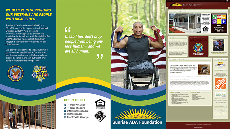 Sunrise ADA quad-fold brochure