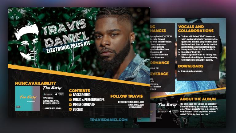 Travis Daniel Electronic Press Kit (EPK)